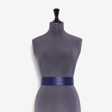 Klein blue plunged lambskin luxury belt