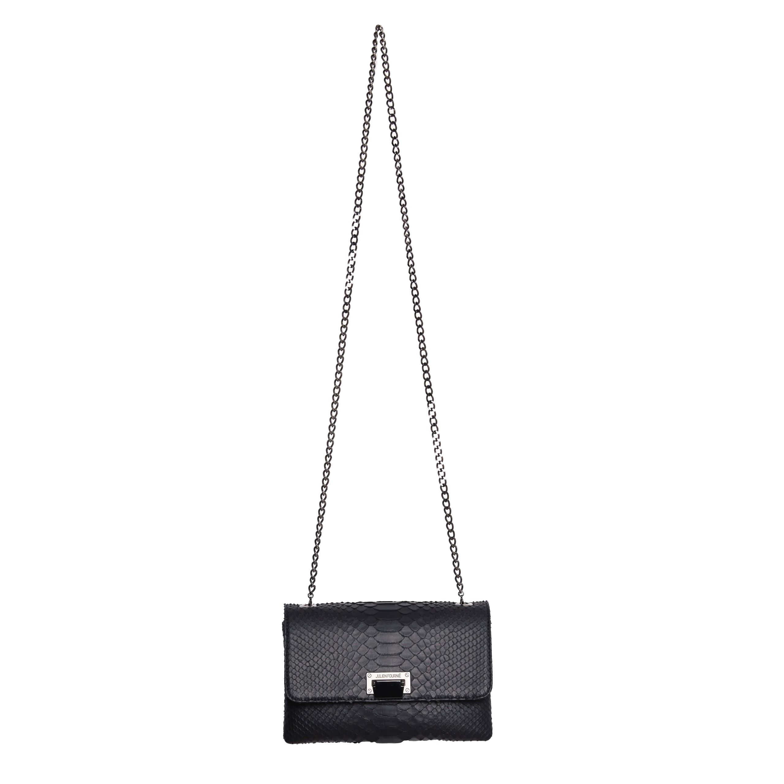 Deep Black Luxury Python Julien Fournié Haute Couture Handbag