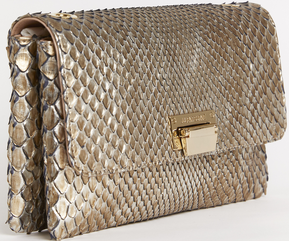 golden python bag