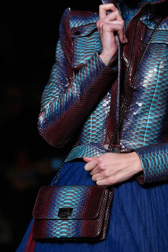 Sac à Main de luxe en Python Mermaid Julien Fournié Haute Couture