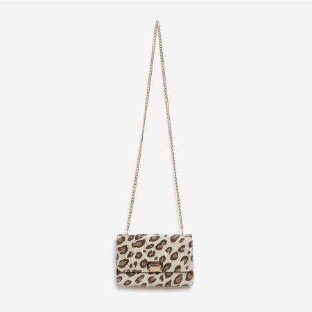 Sac à main léopard beige Julien Fournié Haute Couture
