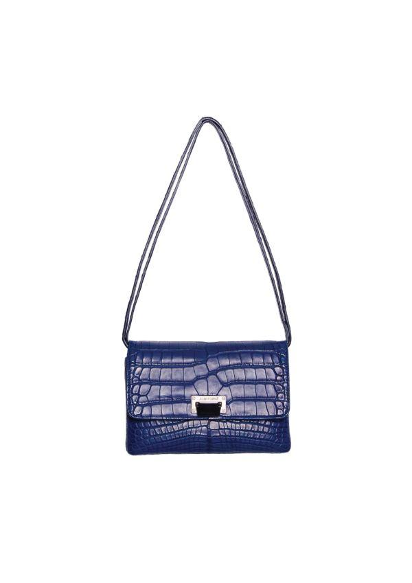 Sac a main en alligator bleu Abyss Julien Fournié Haute Couture face2