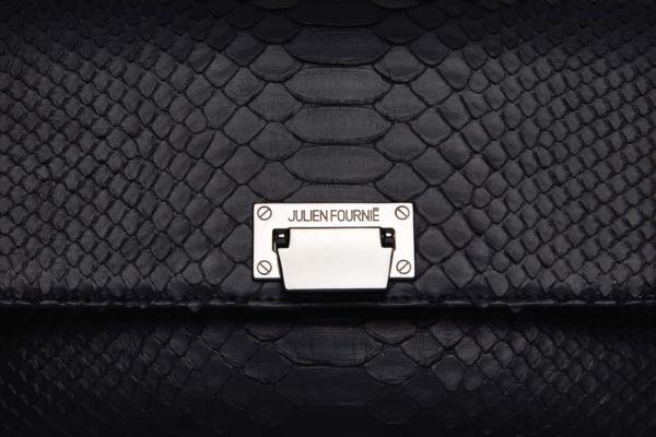 Sac à main noir en python Julien Fournié Haute Couture