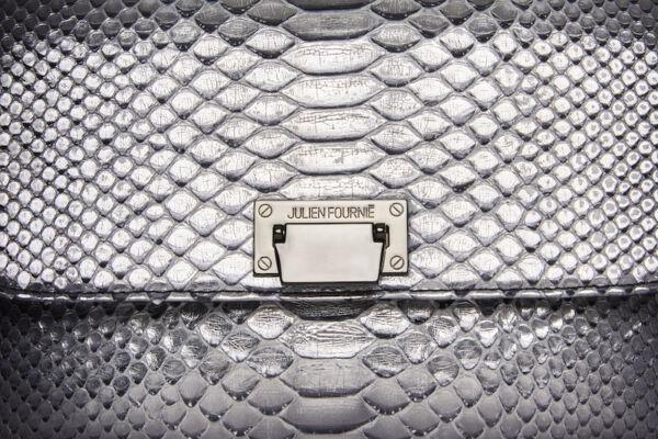 Sac à main argent en python Julien Fournié Haute Couture
