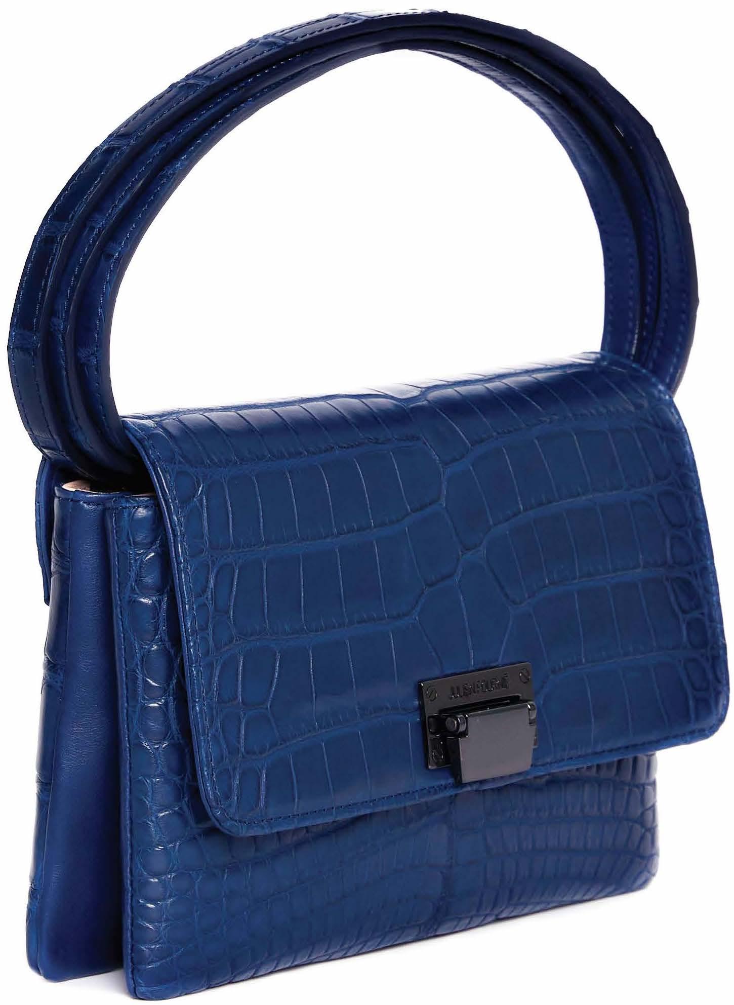 sac bleu en alligator